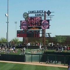 Photo taken at Camelback Ranch - Glendale by Liz G. on 3/21/2012