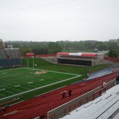 Photo taken at McMahon Stadium by Billy T. on 6/28/2011