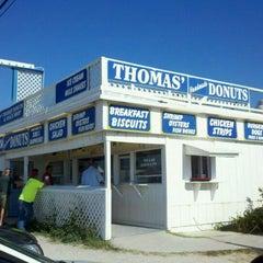 Photo taken at Thomas Donut & Snack Shop by Derek K. on 9/25/2011