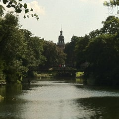 Photo taken at Ørstedsparken by Julie K. on 7/26/2012