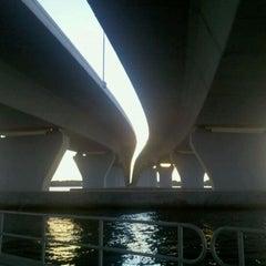 Photo taken at The Hathaway Bridge by Tara G. on 4/14/2011