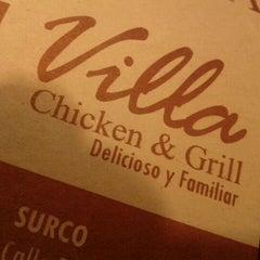 Photo taken at Villa Chicken & Grill by Carla Yaemi F. on 5/6/2012