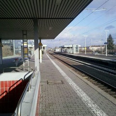Photo taken at Bahnhof Frankfurt-Niederrad by onthe r. on 2/19/2012
