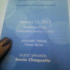 Photo taken at Bodhi Spiritual Center by Justen P. on 1/15/2012