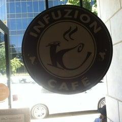 Photo taken at Infuzion Cafe by Amanda P. on 6/25/2012