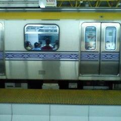 Photo taken at LRT 2 (Araneta Center-Cubao Station) by Joy L. on 5/28/2012