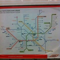 Photo taken at Metro Porta Romana (M3) by Gloria S. on 12/1/2011