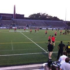 Photo taken at Lamport Stadium by James C. on 7/22/2012