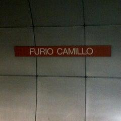 Photo taken at Metro Furio Camillo (MA) by )|( aXxel on 7/3/2012