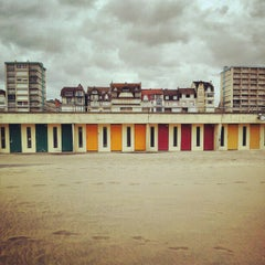 Photo taken at Beach Huts - Le Touquet Plage by Tom B. on 6/15/2012