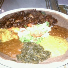 Photo taken at Gojo Ethiopian Restaurant by Donoho on 1/8/2011