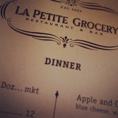 Photo taken at La Petite Grocery by Christopher D. on 10/22/2011