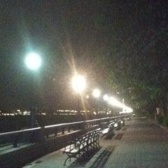 Photo taken at Hudson River Promenade by Patty A. on 4/25/2012