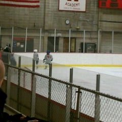 Photo taken at Minnehaha Academy Ice Arena by Jason M. on 1/8/2012