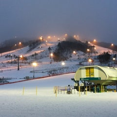 Photo taken at 알펜시아 리조트 스키장 / Alpensia Resort Ski Area by Andrey A. on 1/18/2012