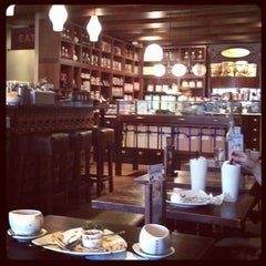 Photo taken at Max Brenner Chocolate Bar by Carol V. on 8/25/2012