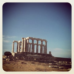 Photo taken at Ακρωτήρι Σουνίου (Cape Sounion) by Elly Kyriaki P. on 5/13/2012