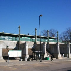 Photo taken at MBTA Riverside Station by Jason C. on 1/7/2012