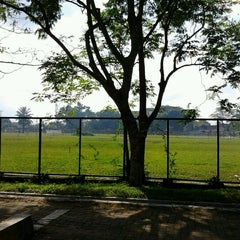 Photo taken at Lapangan Bola FISIP by Alwy on 11/17/2011