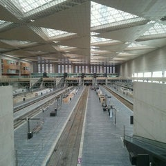 Photo taken at Estación de Zaragoza - Delicias by Santiago B. on 9/18/2011
