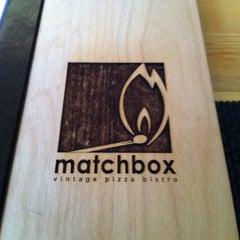 Photo taken at Matchbox Vintage Pizza Bistro by Joseph H. on 2/13/2011