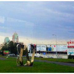 "Photo taken at ""Rīgai - 800"" piemineklis | Monument of ""Riga - 800"" by Guna Z. on 8/4/2012"