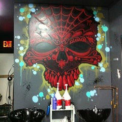 Photo taken at Hair Metal Greenpoint by Brittany W. on 8/2/2011