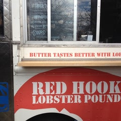 Photo taken at Red Hook Lobster Pound Truck by Jessica A. on 3/29/2012