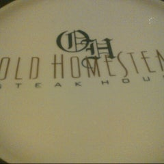 Photo taken at Old Homestead Steakhouse by Joe A. on 8/14/2012