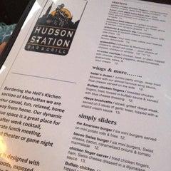 Photo taken at Hudson Station Bar & Grill by Jasmine L. on 5/13/2012