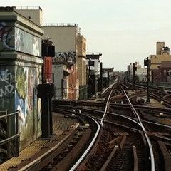 Photo taken at MTA Subway - Myrtle Ave/Broadway (J/M/Z) by Brandon B D. on 11/9/2011