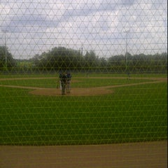 Photo taken at Heerenschuerli Baseball Stadium by Sven T. on 8/14/2011