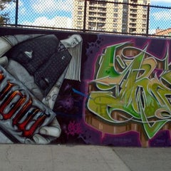 Photo taken at Graffiti Hall Of Fame by Mike M. on 9/18/2011