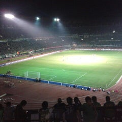 Photo taken at Stadion Gelora Bung Tomo by Bimbi F. on 7/23/2012
