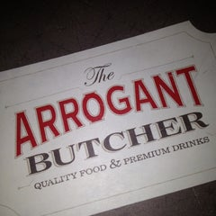 Photo taken at The Arrogant Butcher by Ronnie G. on 4/13/2012