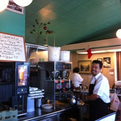 Photo taken at Rae's Diner by Dina B. on 12/24/2011