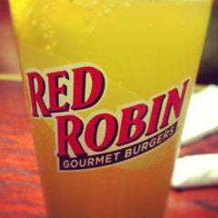Photo taken at Red Robin Gourmet Burgers by Cameron G. on 7/30/2012