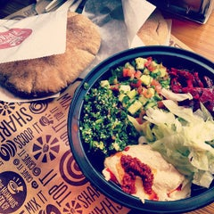 Photo taken at The Hummus & Pita Co by Shelby on 9/8/2012