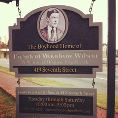 Photo taken at The Boyhood Home Of Woodrow Wilson by Nichole H. on 2/17/2012