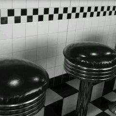 Photo taken at Moonlite Diner by Y N G on 1/24/2012