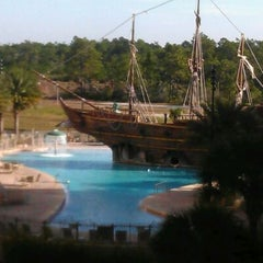 Photo taken at Lake Buena Vista Resort Village & Spa by Grant D. on 12/8/2011