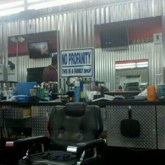 Photo taken at Goodfellas Barbershop by Val S. on 10/13/2011