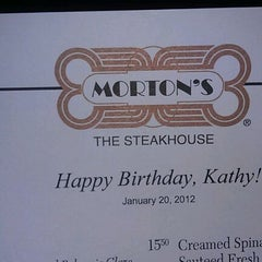Photo taken at Morton's The Steakhouse by Kathy J. on 1/21/2012