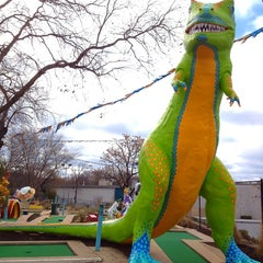 Photo taken at Peter Pan Mini Golf by Farrish C. on 1/11/2012