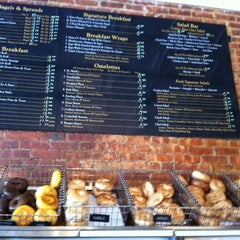 Photo taken at Olde Brooklyn Bagel Shoppe by thecoffeebeaners on 7/12/2011