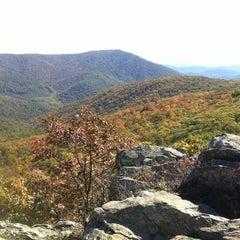 Photo taken at Bearfence Mountain Parking by Tim K. on 10/9/2011
