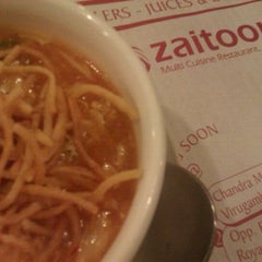 Photo taken at Zaitoon Restaurant by Anand B. on 12/15/2011