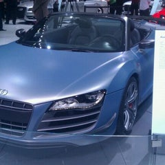 Photo taken at Audi Stand at Detroit Auto Show by Quin Mark C. on 1/12/2012