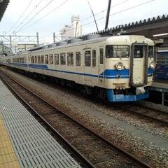 Photo taken at Toyama Station by りょうへい わ. on 9/8/2012