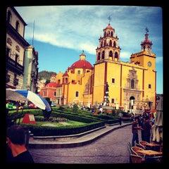Photo taken at Basílica Colegiata de Nuestra Señora de Guanajuato by JCarlos R. on 8/9/2012